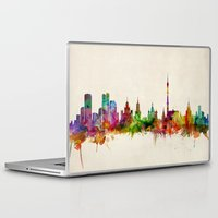 russia Laptop & iPad Skins featuring Moscow Russia Skyline by artPause
