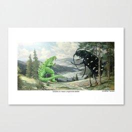 Godzilla vs. Asianlonghorned Beetle Canvas Print