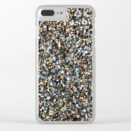Small stones pattern Clear iPhone Case