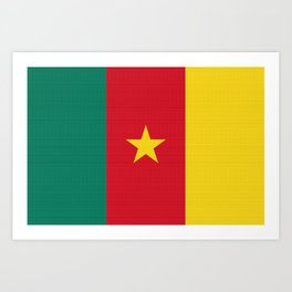 Cameroon Flag (Canvas Look) Art Print