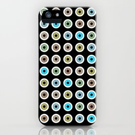 googly eyes pattern iPhone Case
