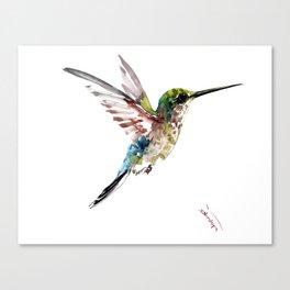 Hummingbird, bird art minimalist bird design hummingbird lover Canvas Print