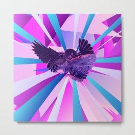 Stardust Owl Crystal Flare Metal Print