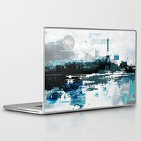 skyline Laptop & iPad Skins featuring Skyline by girardin27