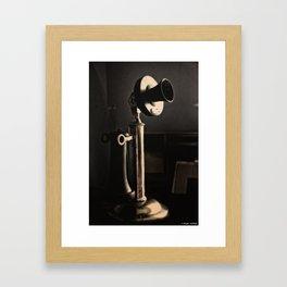 Call Waiting Framed Art Print