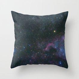 The North America Nebula in Cygnus Constellation, Brightest star Deneb Throw Pillow