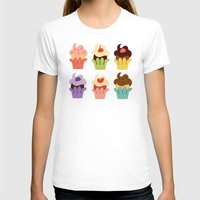 cupcakes T-shirts featuring Cupcakes by Carolina Pineda