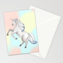 Unicorn on Pastel Sky Stationery Cards