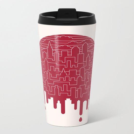 Painted Red Metal Travel Mug