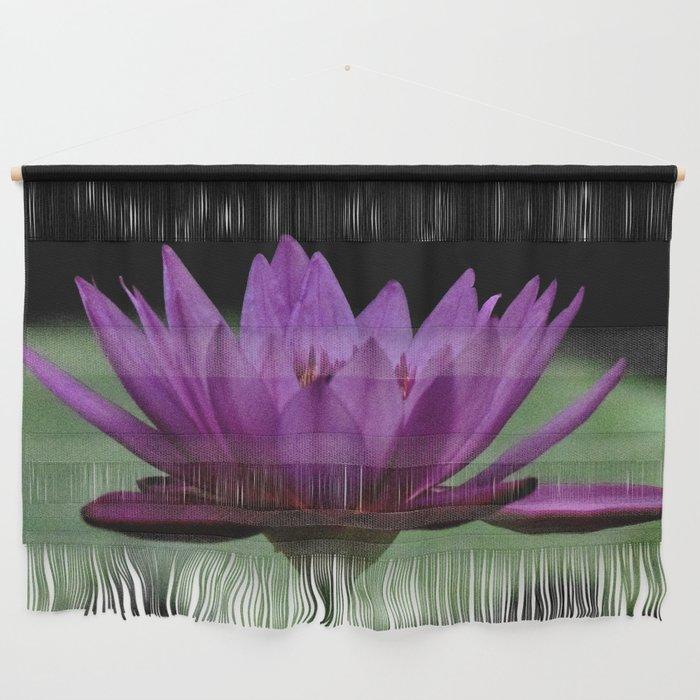 Purple Sacred Lotus Wall Hanging