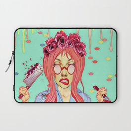 Girl and the blood Laptop Sleeve