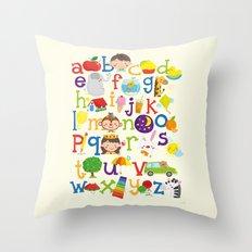 Wedgienet's Alphabet Throw Pillow