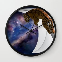 Tiger Astronaut  Wall Clock