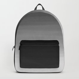 Black and White Haze Abstract Ombre Backpack