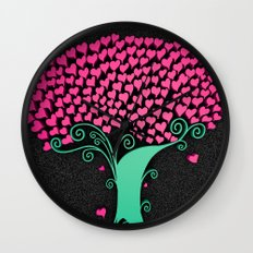 Tree Of Love  Wall Clock