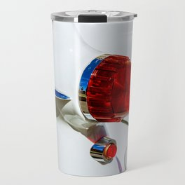 Red taillight of a white luxury car Travel Mug