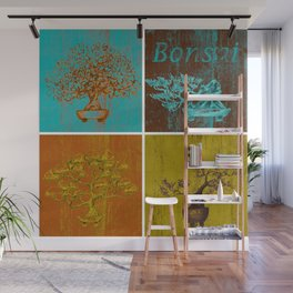 Bonsai Plants Shirt I Azalea Wisteria Ficus Redwood Tree Wall Mural