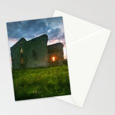 Church at Sunset Stationery Cards