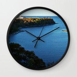 Cap de Madelaine and Lighthouse Wall Clock