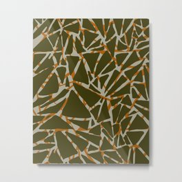 Modern Animal Print Neutrals Metal Print