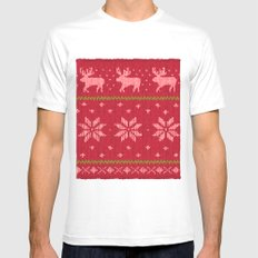 Winter Lovers Christmas White Mens Fitted Tee MEDIUM