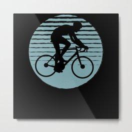 Cyclist Road Bike Cycling Gift Present Idea Metal Print