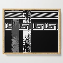 Creative Black and white pattern . The braided belts . Serving Tray