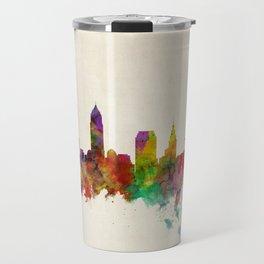 Cleveland Ohio Skyline Cityscape Travel Mug
