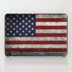 American Flag, Old Glory in dark worn grunge iPad Case