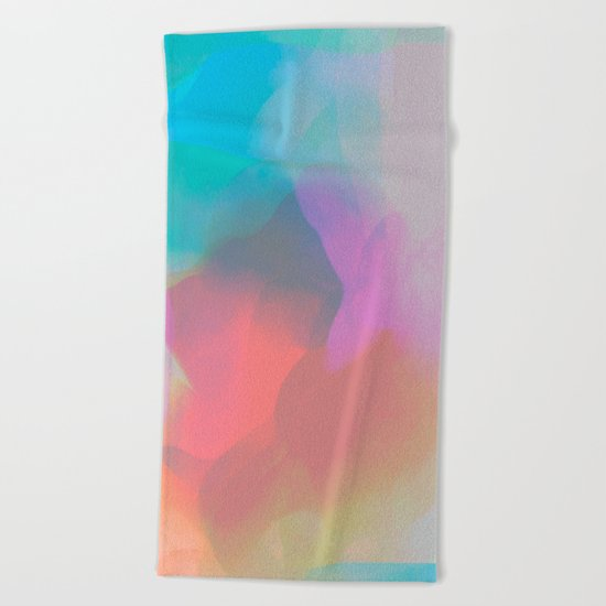 watercolor paint Beach Towel