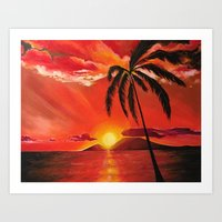 Live for Sunsets Art Print