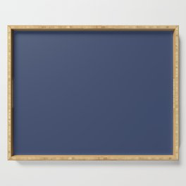 Gallant Dark Blue Solid Color Pairs To Sherwin Williams Dignified SW 6538 Serving Tray