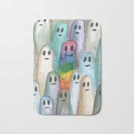 the rainbow gay ghost Bath Mat