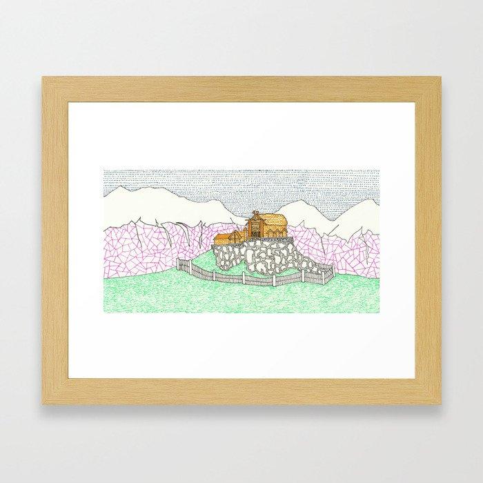 Edoras Framed Art Print