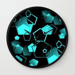 pentagon pattern - seamless Wall Clock