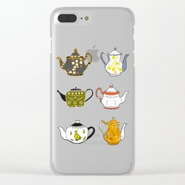 Teapots Clear iPhone Case