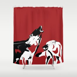 A Wolf's Bloodlust Shower Curtain