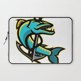 Barracuda and Anchor Mascot Laptop Sleeve