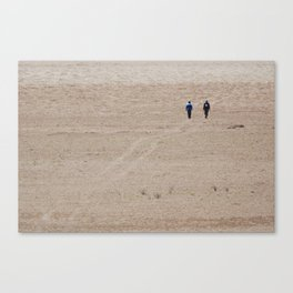 Dusty Road on Salar De Uyuni Canvas Print