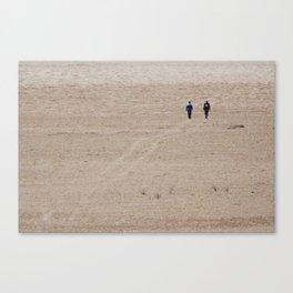 Dusty Road on Salar De Uyuni Canvas Print