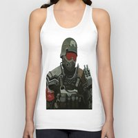 military Tank Tops featuring Military Male Character by Jude Beavis