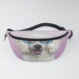 White Poodle - Fantasy sunglasses #poodle Fanny Pack