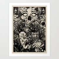 nightmare Art Prints featuring Nightmare by Infested Art