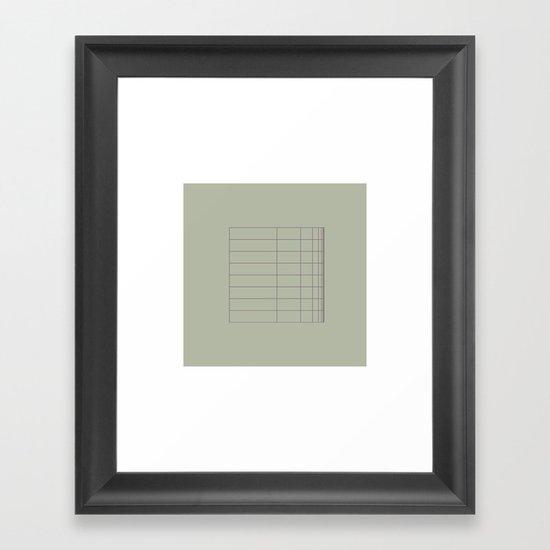 #8 A grid bent – Geometry Daily Framed Art Print