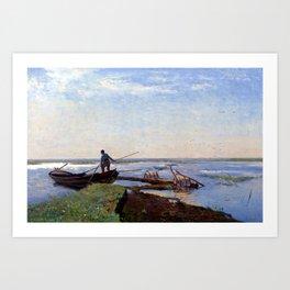 Paul Gabriël Polder Landscape Art Print