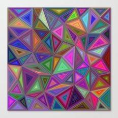 Multicolored chaotic triangles Canvas Print