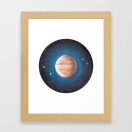 Solar System: Jupiter the Gas Giant & some of the Moons Framed Art Print