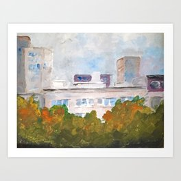 My Mamma's view  Art Print