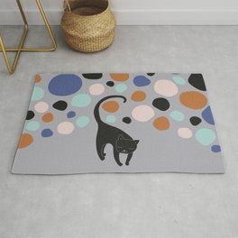 Cat and colored stones Rug