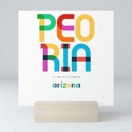 Peoria Arizona Mid Century, Pop Art, Mini Art Print